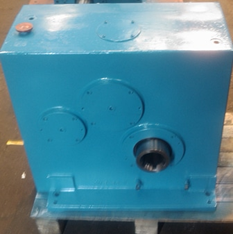 large light blue Plastic extruder