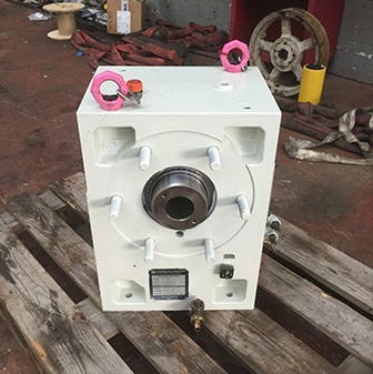 white plastic extruder unit