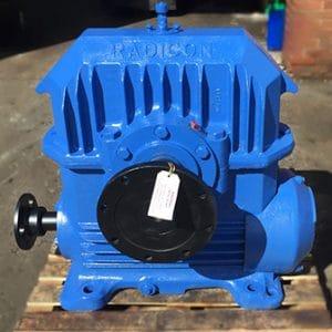 blue plastic extruder