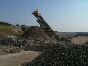 quarry with conveyor for onsite repairs and maintenance