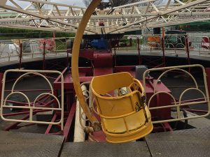 onsite engineering, fairground ride yellow seat