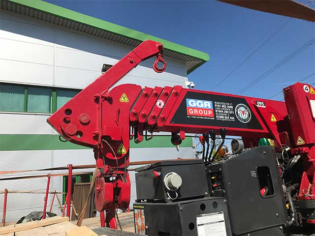red spider crane hire example