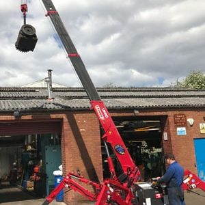 red spider crane available for hire